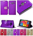 For Samsung Galaxy Avant SM-G386T Shiny Bling Leather Card Holder Case