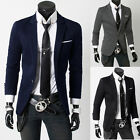 Mens Fashion Slim Fit Suit One Button Business Formal Casual Blazer Coat Jackets