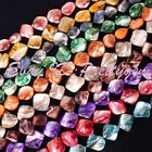 "15-22MM FREEFORM BECATIFUL SHELL MOP GEMSTONE BEADS STRAND 15"" SELECT BY COLOR"