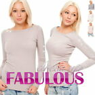 NEW WOMENS DIAMANTE JUMPERS Size 8 10 12 14 TOPS SWEATERS HOT FASHION CLOTHING
