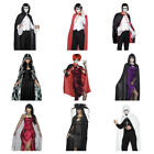 Halloween Cape Ladies Mens Fancy Dress VARIOUS DESIGNS & COLOURS
