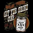 GIT YER SHINE ON OUTLAW WHISKEY MOONSHINE MOONSHINERS HOODIE L TO 4X BLACK