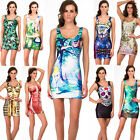 Sexy Women Fashion Space Galaxy top The Hobbit Middle Earth Map Mini Short Dress