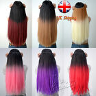 Two Tone Style Choose from 6 Colors Ombre Dip Dye Clip In Hair Extensions UK