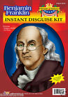 Ben Franklin Costume Kit Wig & Glasses School Project Founding Fathers 54707