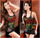 Women Sleeveless Tops Vest Sundress Tank Tops Mini Dress Party Club Wear
