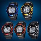 New Men Rubber Band Dial Quartz Analog Digital Led Waterproof Alarm Wrist Watch