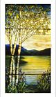 """DECORATIVE CANVAS PRINT """"Tiffany glass window"""" choose SIZE, from 55cm up, NEW"""