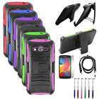 Phone Case For Samsung Galaxy Avant Cover + Holster + USB Charger +LCD +Pen 5in1