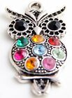 Wholesale 4/9Pcs Tibetan Silver Owl Charms 48x24mm (Lead-free)