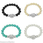 1PC Snap Bracelet Fit Snap Button Strecthable Beads Bracelet 22cm