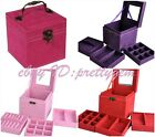 EASY TO CARRY SQUARE THREE LAYERS PASTORAL STORAGE JEWELRY MULTIFUNCTION BOX