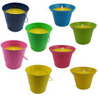 COLOURFUL CITRONELLA CANDLE HOLDERS - PLANT POT / BUCKET - MANY COLOURS