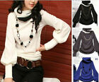 Autumn Women Vintage  Knitwear Tops Sweater Batwing Long Sleeve Blouse T-Shirts