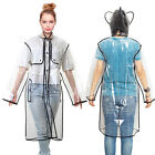New Transparent Clear Rain Coat PVC / Vinyl Ladies Runway Style Rain Coat