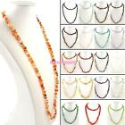 RETRO WOMENS LADIES PRECIOUS STONE HEALING CRYSTAL GEMSTONE CHIP BEAD NECKLACE