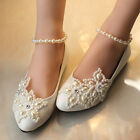 Resplendent Sparkling Pearl Wedding Formal Party Evening Party Women Flat shoes