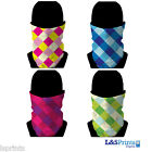 GOLF DIAMOND DESIGN SNOOD NECKTUBE FACEMASK NECKWARMER 4 COLOURS L&S PRINTS