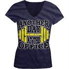 Another Day At The Office Dumbbell Lifting Weights Juniors V-neck T-shirt
