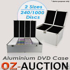 Aluminium CD DVD Bluray Lock Storage Case Box 240 / 1000 Discs