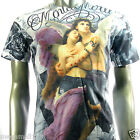 Minute Mirth T-Shirt Tattoo Cupid Graffiti N125 Sz M L Skate Board Indie Rock