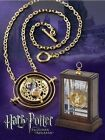 Hot Harry Potter Time Turner Pendant Rotating Spins Gold Hourglass Necklace