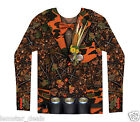 FauxReal Camo Tuxedo Long Sleeve Shirt or Halloween Costume Redneck Hunting  NWT