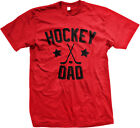 Hockey Dad Father Puck Ice Rink Helmet Team Supporter Son Kid Mens T-shirt