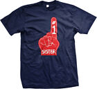 #1 Number One Sister First Born Birthday Present Holiday Gift Mens T-shirt
