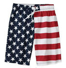NWT AMERICAN FLAG USA SWIM TRUNKS BEACH BOARD SHORTS BIG TALL 4X  4XL  5X  5XL