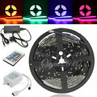 5M LED 3528/5050 SMD RGB Flexible Xmas Strip Light +IR Remote /12V Power Adapter
