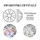 SWAROVSKI CRYSTAL CLEAR & CLEAR AB 2058 FOILED FLAT-BACK - ALL SIZES RHINESTONES