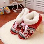 Winter Warm Cotton Fuzzy Indoor Outdoor Slippers Cutie Puppy Snowflake Shoes LG