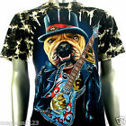 Survivor T-Shirt Biker Bulldog Guitar Tattoo S119 Sz M L XL XXL 3XL mma Studs