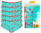Women's Pack of 5 Tropical Print Hipster Shorts Briefs Knickers Sizes 10-20 NEW