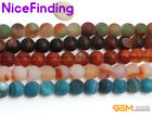 "12mm Round Frost Matte Agate Jewelry Making Design Loose Bead Gemstone 15""Colors"