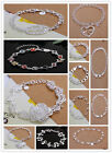 NEW Gift Classic Jewelry Wholesale Womens MENS Top Silver Bracelet Bangle Arinna