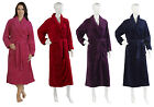 Ladies Luxury Slenderella Dressing Gown Extra Long Fleece Shawl Collar Housecoat