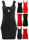 Womens Knot Party Dress Ladies Puffball Strappy Christmas Top Plus Size 8-16