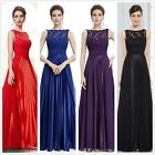 US Seller Women's Long Lace Evening Dresses Prom Party Formal Ball Gown 08352