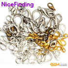 Silver Gold Bronze Plated Alloy Lobster Claws Clasps Necklace Jewelry Findings