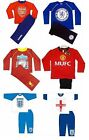 Official Football Club Boys Pyjamas Long Sizes From 12 Months-12 Years