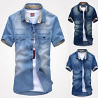 CHIC Manly Men's Jeans Casual Slim Fit faddish Wash-Vintage Denim Shirts