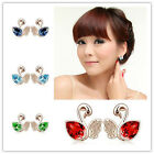1 Pair Austrian Crystal Jewelry Wholesale Fantasy Swan Lake Earrings 4227