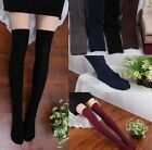 Women Girls Knit Cotton Over Knee Thigh Stockings Pantyhose Tights High Socks