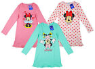 Girl's Disney Minnie Mouse Long Sleeve Cotton Nightdress Nightie 2 4 6 8 Yrs NEW