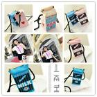 Chic Lady Girls Milk Cartons Shoulder Bag Crossbody Bags Canvas Messenger Bag Z