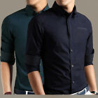 New Men's Luxury Casual Formal Slim Fit Stylish Long Sleeved Dress Shirts Tops