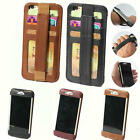 Real Leather credit card back holder elastic band wallet for iPhone 6/6 Plus 5.5