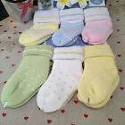 6 Pairs mixed colors baby kids thick warm terry socks (3 sizes)